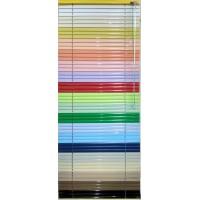 Жалюзі горизонтальні кольорові 25 мм
